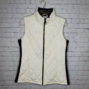 CALVIN KLEIN Puffer White Vanilla Quilted  Vest